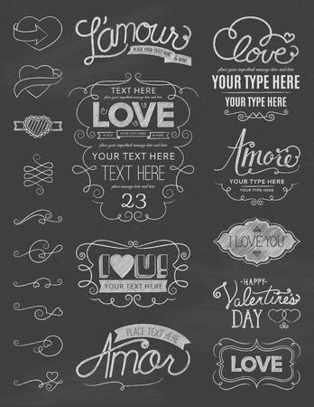 amore: Chalkboard Love Design Elements One