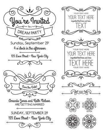 Swirl Invitations and Elements