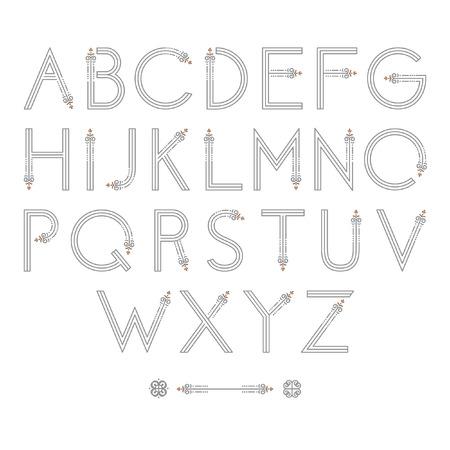 Flourish Alphabet Font
