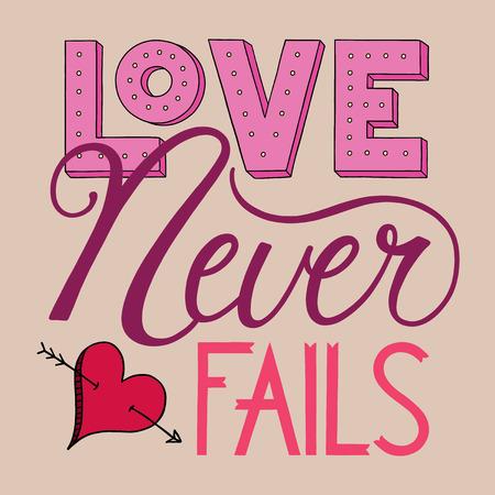 fails: Love Never Fails Lettering
