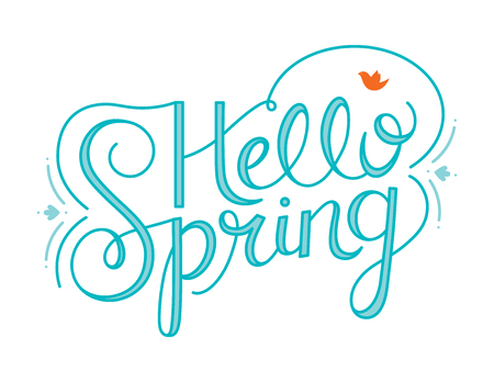 Hello Spring Hand Lettering