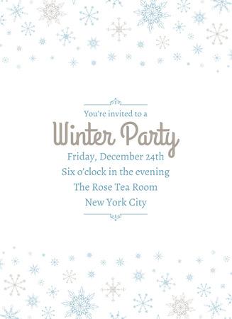 Snowflake Party Invitation Two Vettoriali
