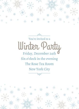 Snowflake Party Invitation Two 向量圖像