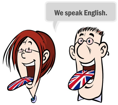translating: We speak English.
