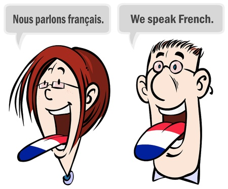 We speak French.  Illustration