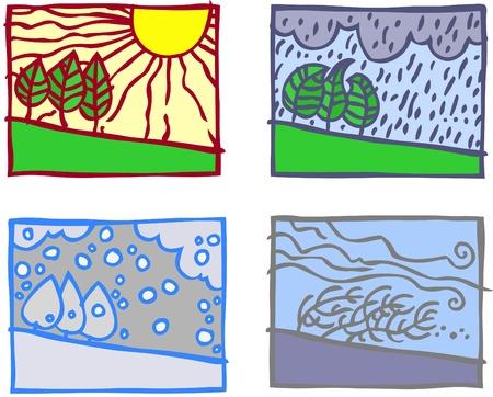 agreeable: Four simple season landscapes.