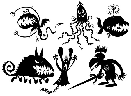 monstrous: Some funny monstrous silhouettes.