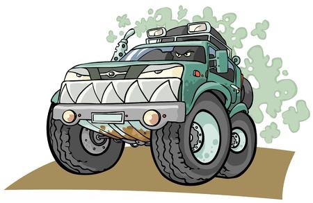 Cartoon Off road voertuig Vector Illustratie