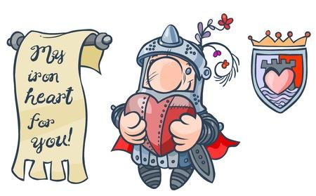 st valentine  s day: Cartoon in love Knight
