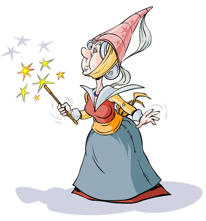 Fairy Sorceress  Cartoon character   Vector