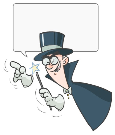 Cartoon Magician Illustration   Vector