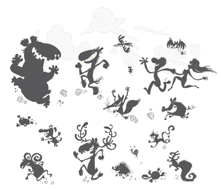 Funny Animal Silhouettes   Stock Vector - 15477470