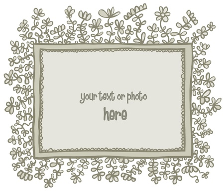 religion  herb: Frame with Floral decorations