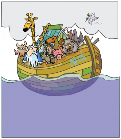 noah: Noah s Ark cartoon   Illustration