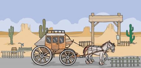 western background: Antecedentes occidental con separ� diligencia y casas