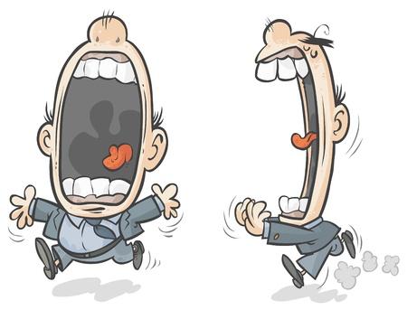 Big mouth cartoon character   Stock Vector - 16438022