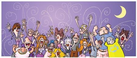Cartoon Night Party People