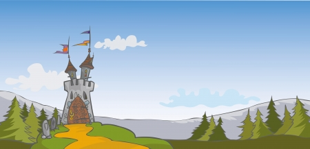 Castle background Illustration