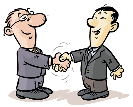 greeting people:  Handshake of businessmen from different nationalities