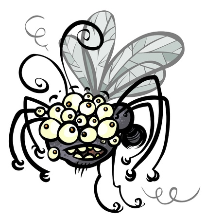 squinting: Cartoon crazy Insect