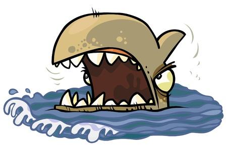 tiburon caricatura: Cabeza Tibur�n de la historieta