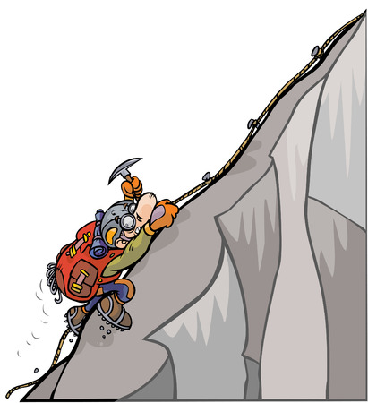 mountaineer:  Cartoon Mountaineer   Illustration