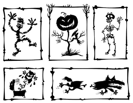Horror Cartoon Silhouetten