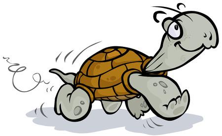 tortuga caricatura: Correr Tortuga Vectores