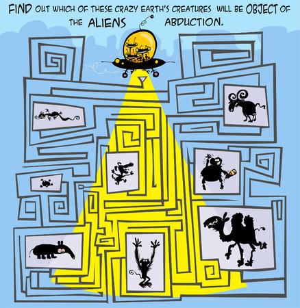 Aliens abduction big maze.