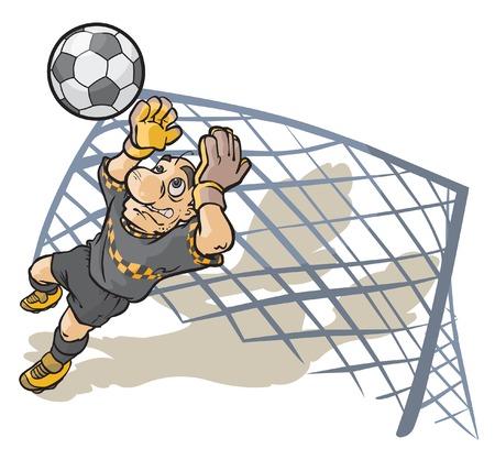goalkeeper: Soccer Goalkeeper. Illustration