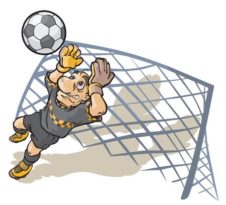 Soccer Goalkeeper. Illustration