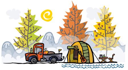 Outdoor illustration. Color version.