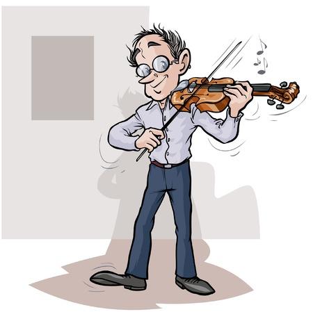 violinist: Cartoon violinist.