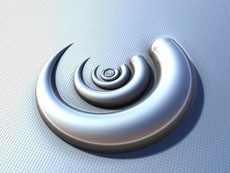 Futuristic digital 3d art fractal illustration Stock Illustration - 92041754