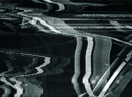 ruido: Aut�ntico codificado de recepci�n en un televisor de pantalla  Foto de archivo