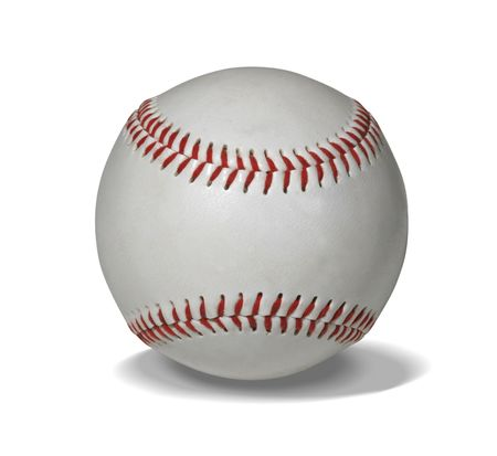 New baseball isolated on white with clipping path for easy masking photo