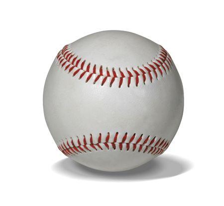 Nowe baseball wyizolowanych na białym z wycinek trasy łatwe do maskowania