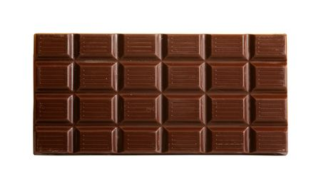 cooky: Chocolate isolated on white background with clipping path for easy masking