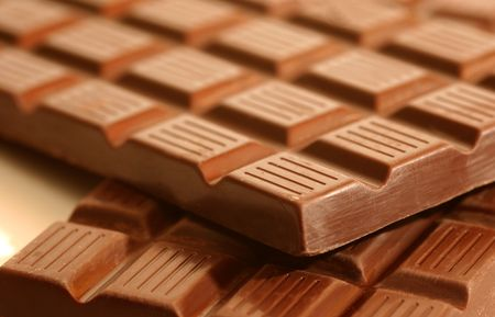 cooky: Macro of chocolate Stock Photo