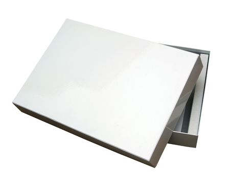 Blank box isoalated on white with a clipping path (Insert your own design or content).