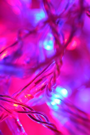 fiberoptic: Abstract christmas lights Stock Photo