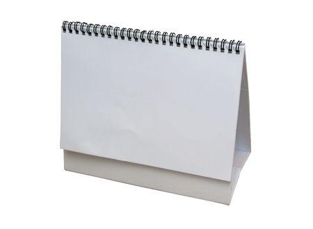 Pusty kalendarz wyizolowanych z białego - wpisz swój własny projekt