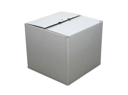 shipped: Isolated closed cardboard box with
