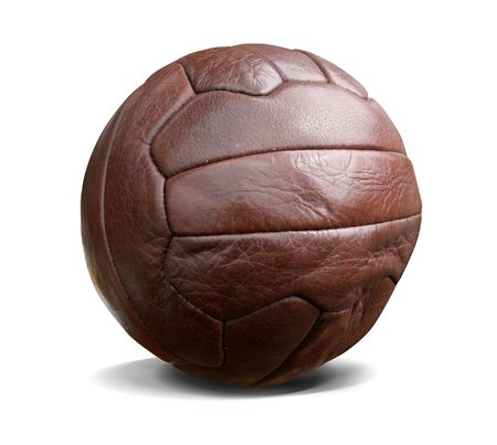 kickball: Vintage football. This image contains a clipping path. Stock Photo