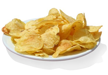 Potato chips isolated Stock Photo - 291813