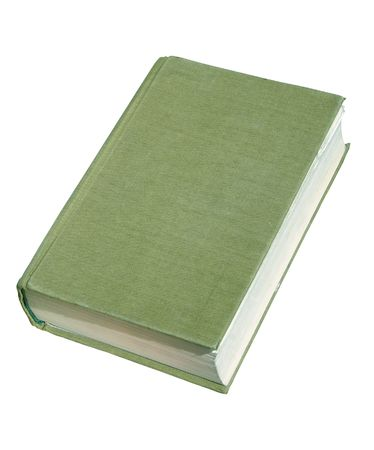 poems: Aged book isolated with clipping path Stock Photo