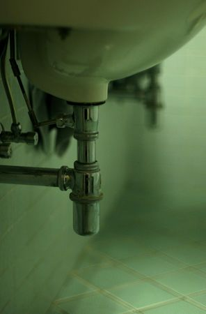 lavamanos: Ba�o cuenca en un ba�o p�blico  Foto de archivo