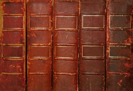 with spines: Old books with blank spines Stock Photo