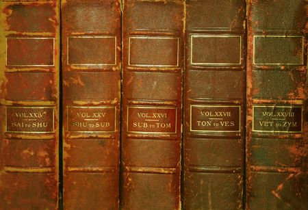 volumes: Old volumes of books