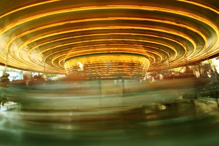 Old fashioned caroussel motion blurred Stock Photo - 371526